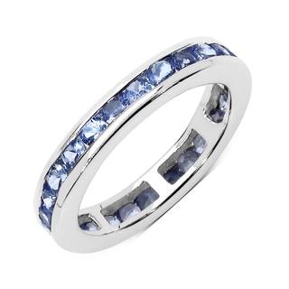 Olivia Leone Sterling Silver 1 7/8ct TGW Tanzanite Ring
