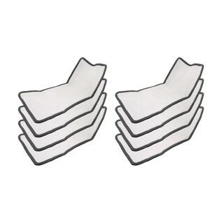 8 Eureka Enviro Floor Steamer Cloth Pads Part # 60978 60980 66996