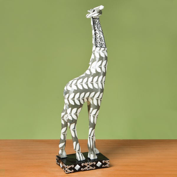 Giraffe Accent Piece -Paisley Leaf Design Tall 17439040