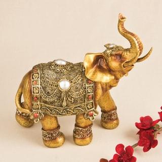Large Golden Elephant Decorative Accent Piece