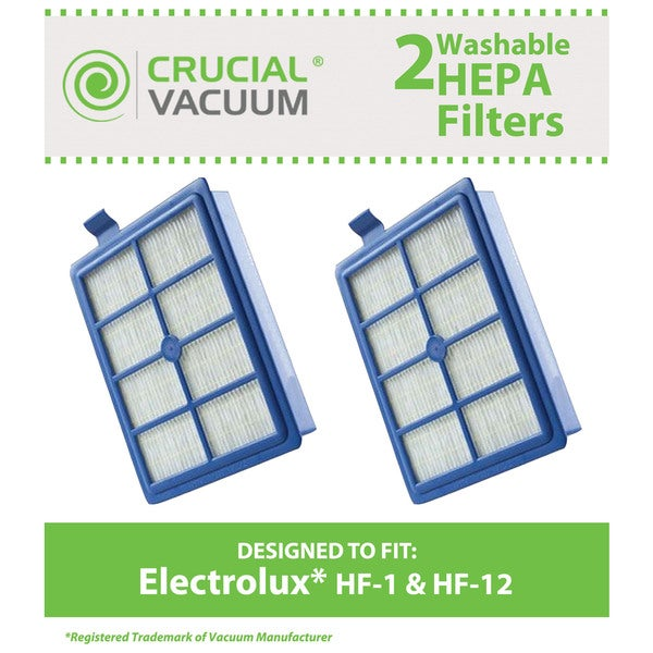 2 Electrolux Washable HF1 HF12 EL012 HEPA Filter Part # H13 SP012 H12 60286A EL020 and EF26 17439078