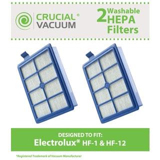 2 Electrolux Washable HF1 HF12 EL012 HEPA Filter Part # H13 SP012 H12 60286A EL020 and EF26