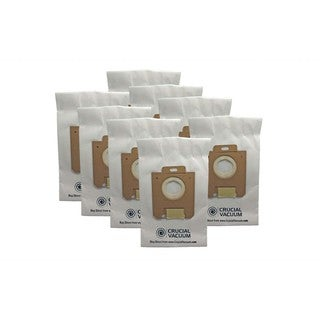 8pk Replacement Paper Bags, Fits Eureka Style OX & Electrolux Style S, Compatible with Part 61230