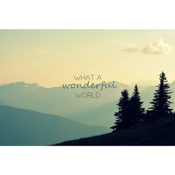 Marmont Hill - 'What a Wonderful World' by Robert Dickinson Painting Print on Canvas