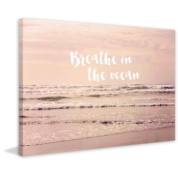 Marmont Hill - 'Breathe In The Ocean' by Sylvia Cook Painting Print on Canvas