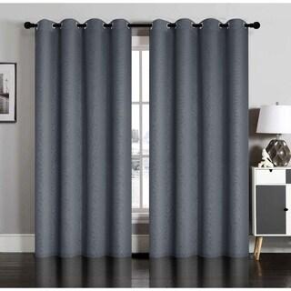Susan Blackout Embossed Grommet Curtain Panel Pair
