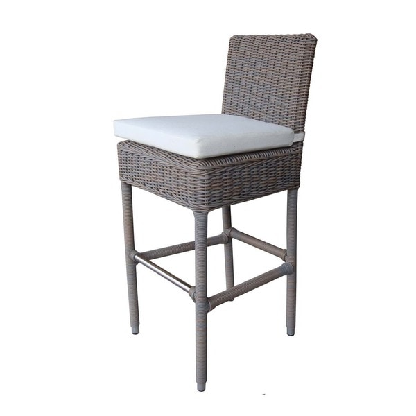 White Cushions Outdoor Boca Bar Stool