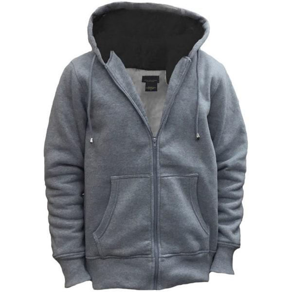 Men's Sporty and Soft Full-Zip Drawstring Hood Sweatshirt