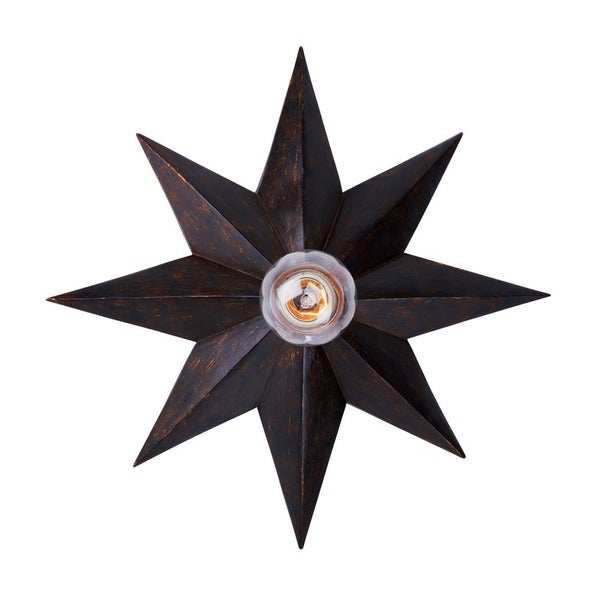 Crystorama Astro Collection 1-light English Bronze Wall Sconce