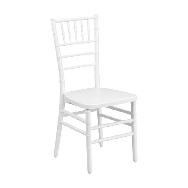 Offex Hercules Indestructo White Resin Stacking Chiavari Chair 17441103
