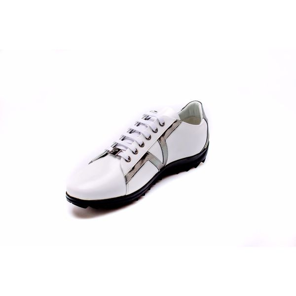 Versace Men's White/ Black Low Top Sneakers