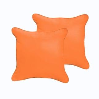 Sloane Bright Orange 18 x 18-inch Indoor/ Outdoor Corded Edge Pillow Set