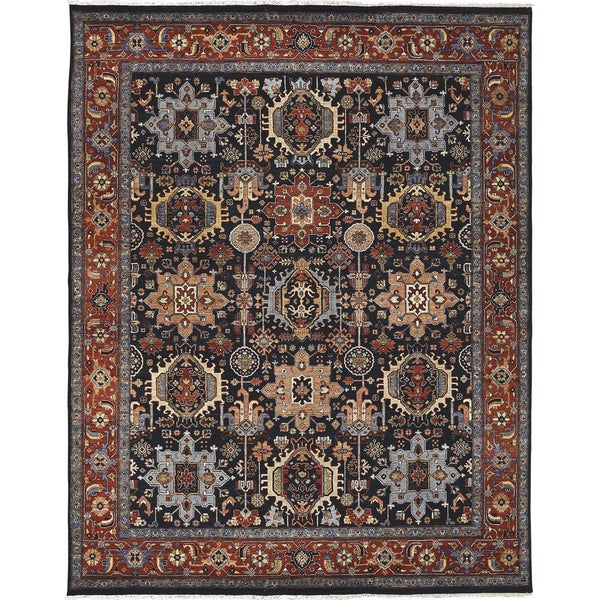 Bethany Navy Traditional Hand-knotted Rug (8' x 10')
