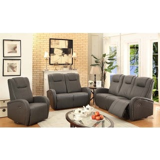 Easy Living Swiss 3-Piece Power Reclining Living Room Set with USB