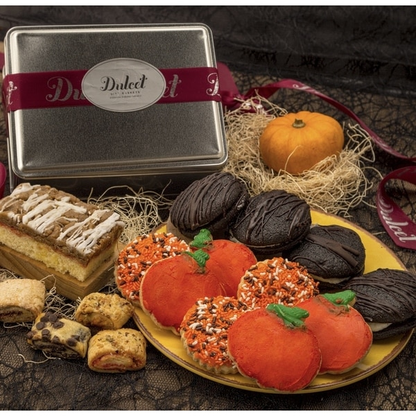 Dulcet's Halloween Assortment of Cookies and Treats Tin