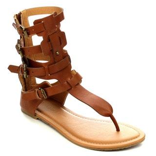 Wild Diva TANAYA-540 Women's Gladiator Thong Sandal