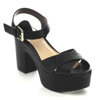 Wild Diva EDREA-04A Women's Chunky Heel Sandals