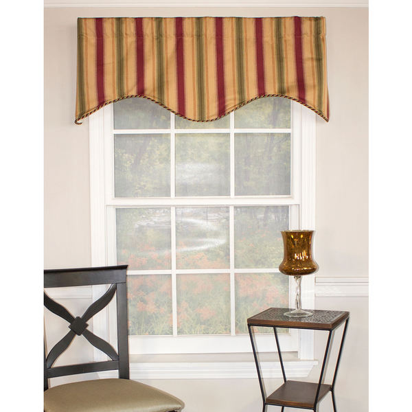Hope Stripe Cornice Cotton Valance
