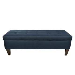 MJL Furniture Brooke 10 Button Tufted Dawson7 Long Storage Bench Ottoman