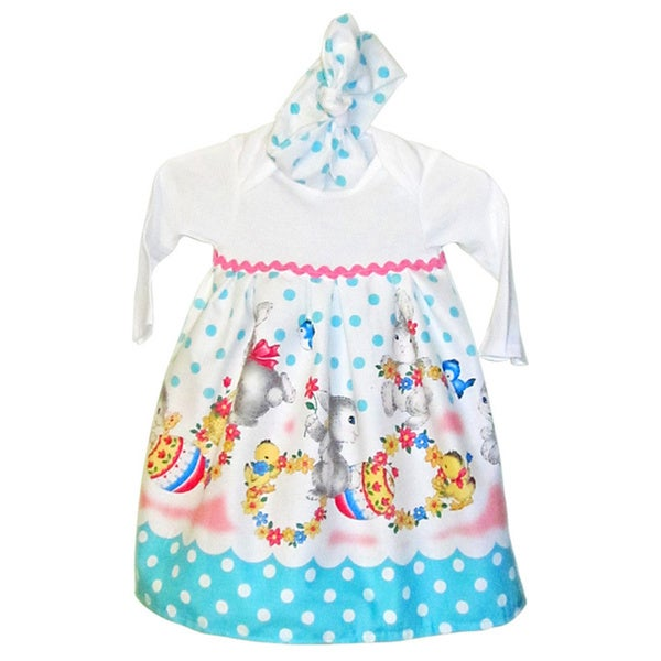 Easter Bunny Dress infant girl Easter dress set