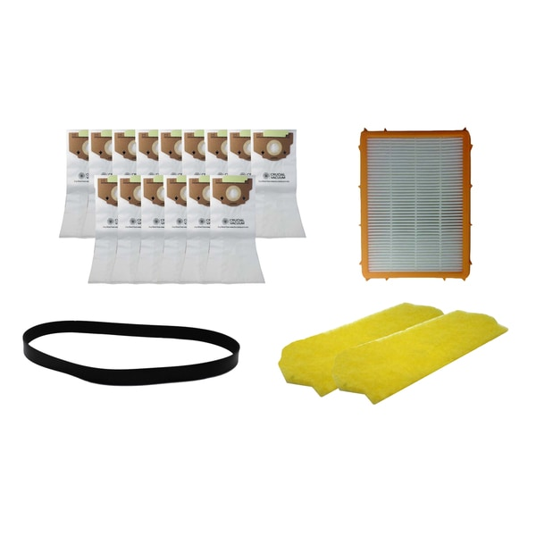 Eureka 1 Year Kit: 18 RR Bags HF2 Filter R Belt and 2 Motor Filters