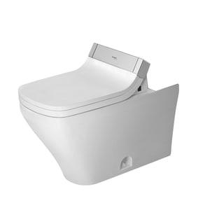 Duravit Durastyle White Siphon Jet/ Elongated/ Het/ Dual Flush White Alpin Toilet Bowl