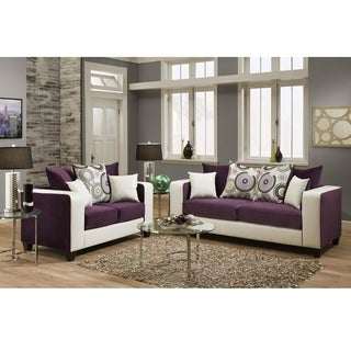 Riverstone Velvet Living Room Set
