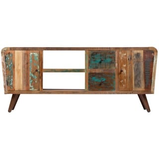 Wanderloot Route 66 Mid-century Modern Reclaimed Hardwood 70-inch Plasma Television and Entertainment Stand (India)