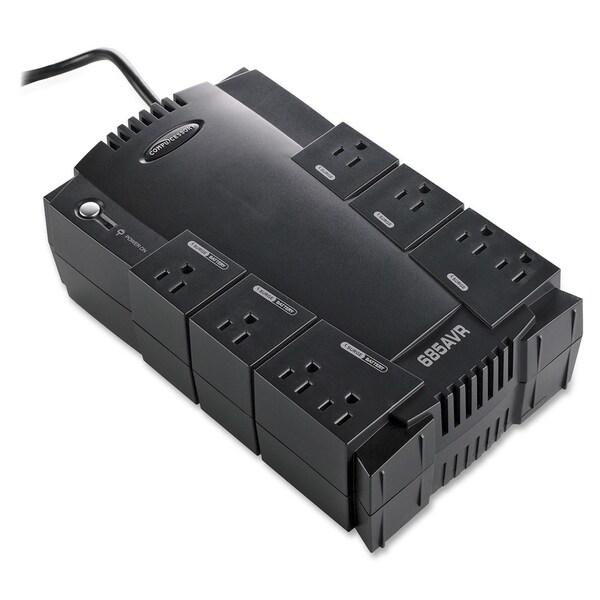 Compucessory 685VA UPS 685 VA/390 W - 120 V AC - 8 - Sag, Spike, Surge, Brownout