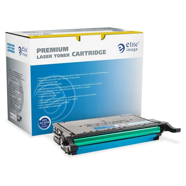 Elite Image Toner Cartridge - Remanufactured for Samsung (CLP670C) - Cyan Laser - 4000 Page