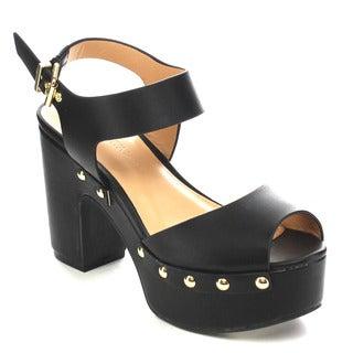 Wild Diva EDREA-01 Women's Chunky Heel Sandals