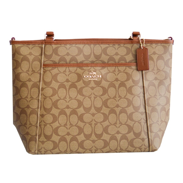 Coach Signature Pocket Tote Handbag