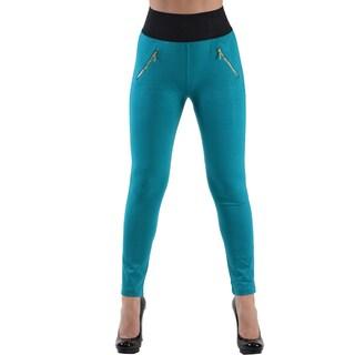 Dinamit Jeans Women's Teal High Waist Leggings