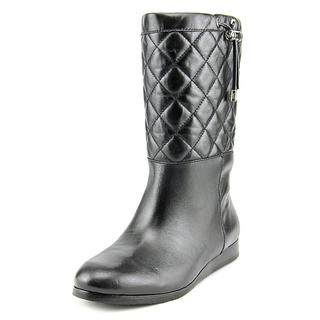 Michael Michael Kors Women's 'Lizzie Quilted Mid Boot' Leather Boots