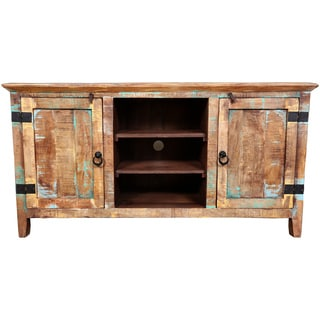 Wanderloot 57-inch Reclaimed and Mango Wood 2-door TV Stand (India)