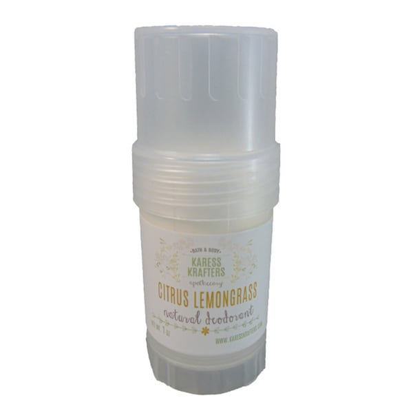 Citrus Lemongrass Natural Deodorant by Karess Krafters Apothecary