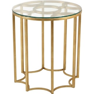 Safavieh Couture Collection Ivana Gold Leaf Side Table
