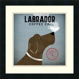 Ryan Fowler 'Labrador Coffee Co.' Framed Art Print 18 x 18-inch