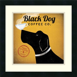 Ryan Fowler 'Black Dog Coffee Co.' Framed Art Print 18 x 18-inch