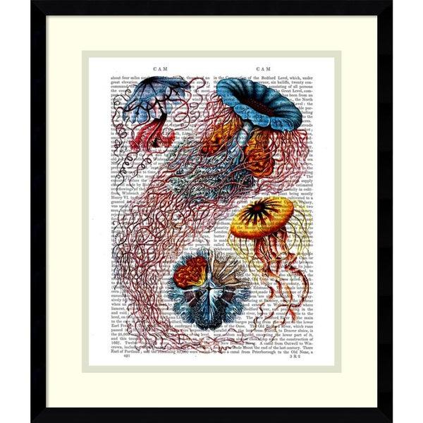 Fab Funky 'Sea Anemone' Framed Art Print 16 x 19-inch