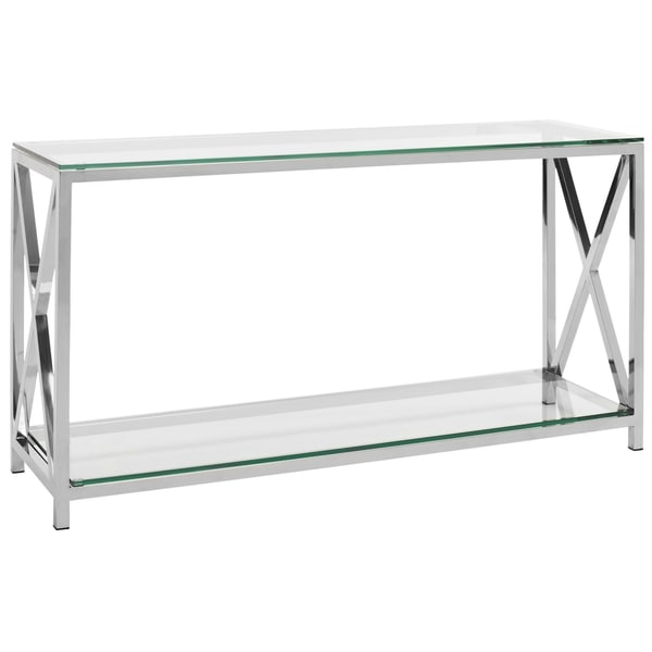 Safavieh Couture High Line Collection Hayward Stainless Steel Chrome Console 17444392