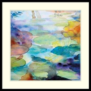 Helen Wells 'Ornamental Pond 2' Framed Art Print 31 x 31-inch