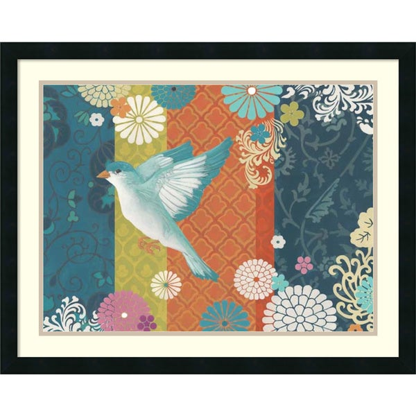 June Erica Vess 'Floral Flight II' Framed Art Print 30 x 24-inch