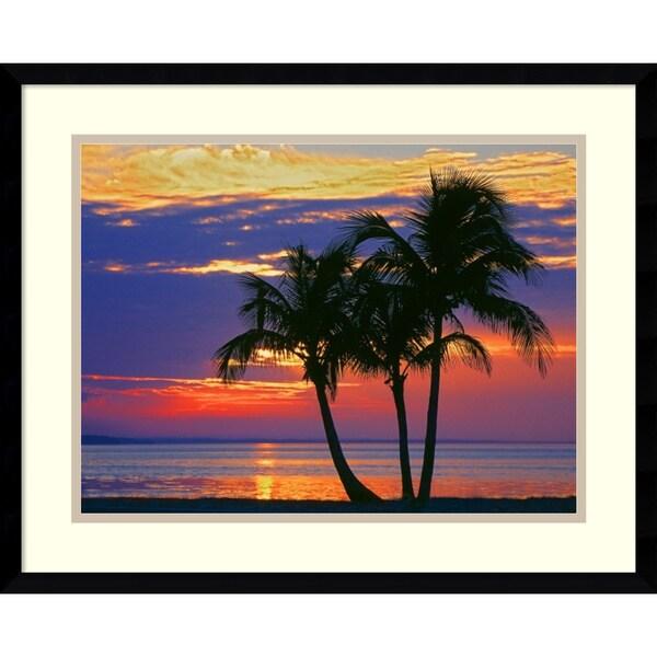 George Mccarthy 'Sunset over Sombrero Beach, Florida' Framed Art Print 21 x 17-inch