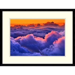 Don White 'Sea of clouds over a volcano, Haleakala, Maui, Hawaii' Framed Art Print 25 x 19-inch
