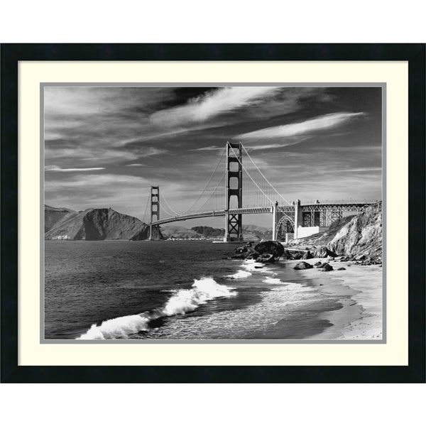 David Muench 'Golden Gate Bridge spanning San Francisco Bay' Framed Art Print 30 x 24-inch
