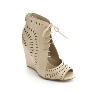 Beston DB40 Women's Peep Toe Wedges Booties