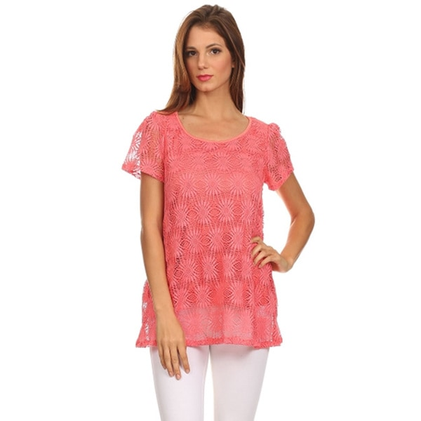 Moa Women's Lace Tunic Top