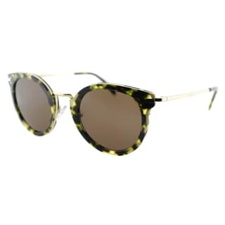 Celine Women's CL 41373 J1L Green Havana and Gold Round Sunglasses