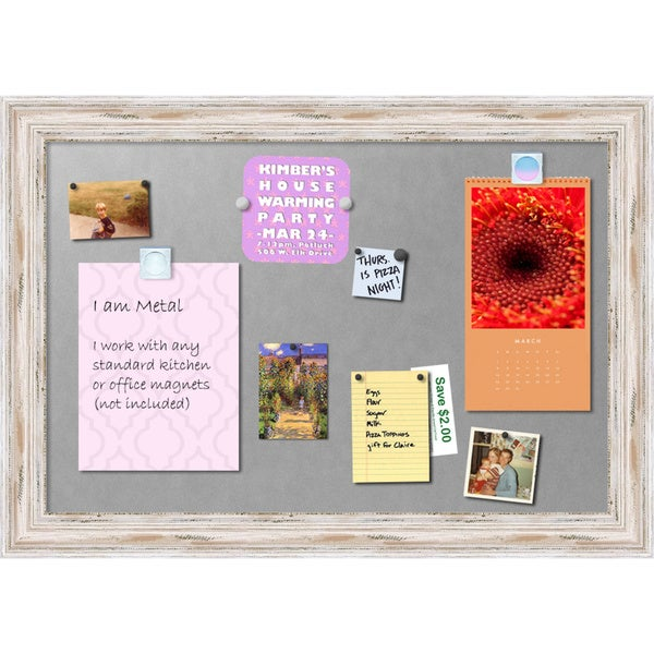 'Alexandria Whitewash Magnetic Board 41 x 29-inch